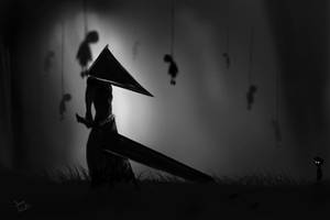Pyramid Head in limbo. by z0h3