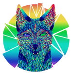 Rainbow Husky v2 by MelancholyW0lf