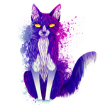 Watercolour Cat Version 2 by MelancholyW0lf