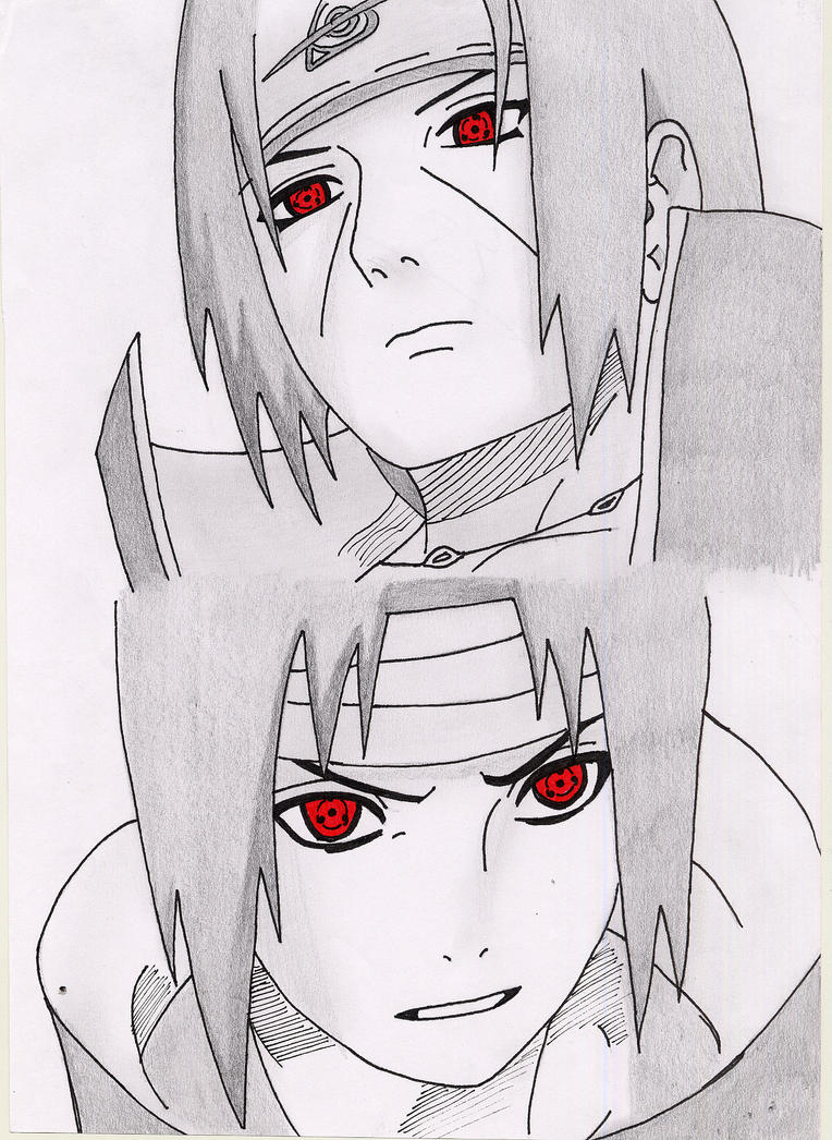 how to draw itachi& 39