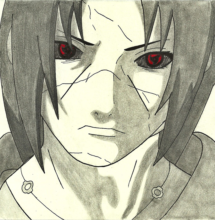Itachi drawing by Mina...