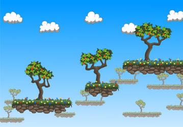 Terrestrial platform with trees by Ma4eTA