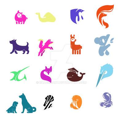 Set of logo animal by kalongart