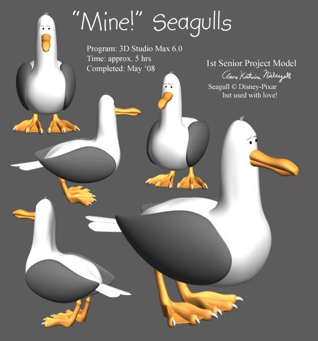 seagull model by EmpressHelenia on DeviantArt