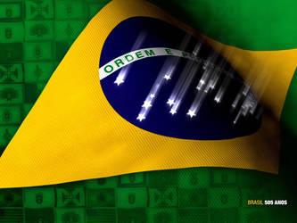 Brazillian Flag Wallpaper by FOG-BR-2006