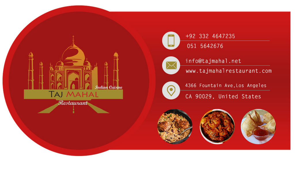 Taj Mahal Restaurant Business Card Front Side by CodingLogics1 on ...