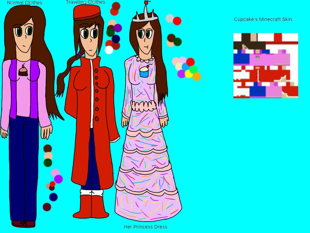 (Minecraft/Persona Oc.) Cupcake's Reference.