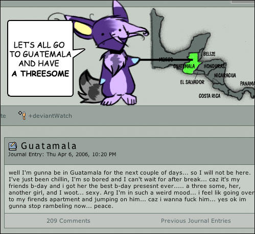 Guatemala Threesome by kippixin