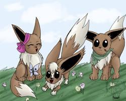 Eevee Family by kojika