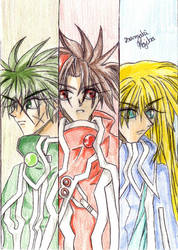 The Dragon Knights Trio by kojika