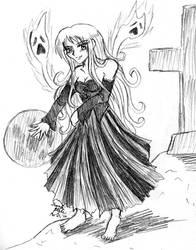Phantom Goddess Sketch Prize by kojika