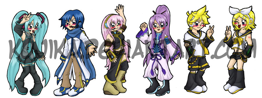 Vocaloid Bookmark Set by kojika