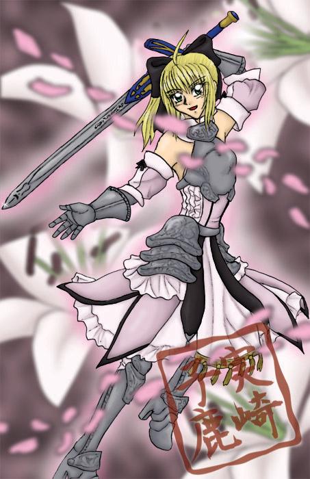 Saber Lily Poster by kojika
