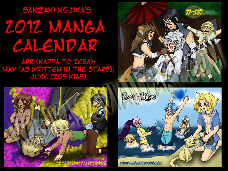 2012 Calendar Part 2 by kojika
