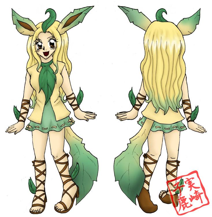 Leafeon Gijinka by kojika