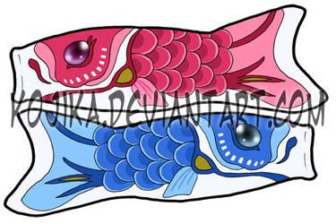 Koi Fish Bookmarks by kojika