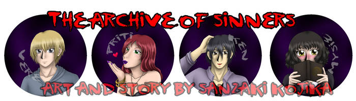 Archive of Sinners Button Preorder by kojika