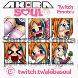 Commission: Akiba Soul Twitch Emotes
