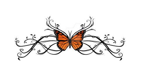 Monarch - tattoo design