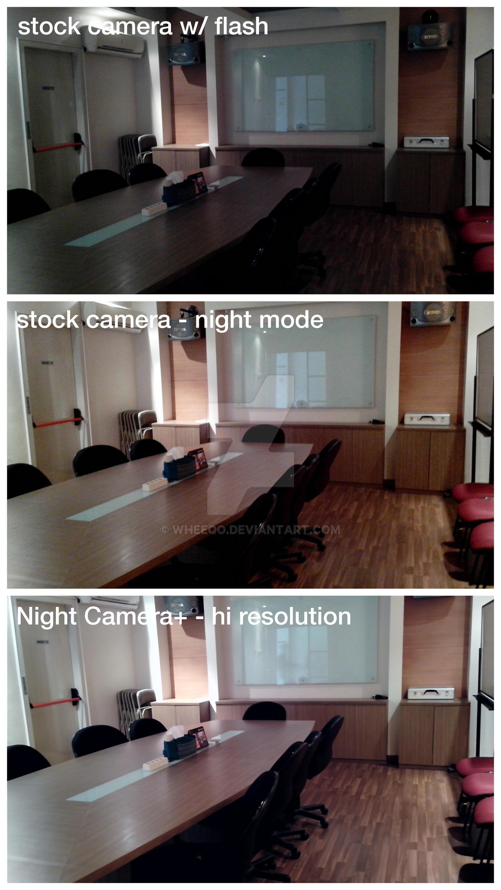 Android Photo Comparison Stock vs Night Camera+ by wheeqo