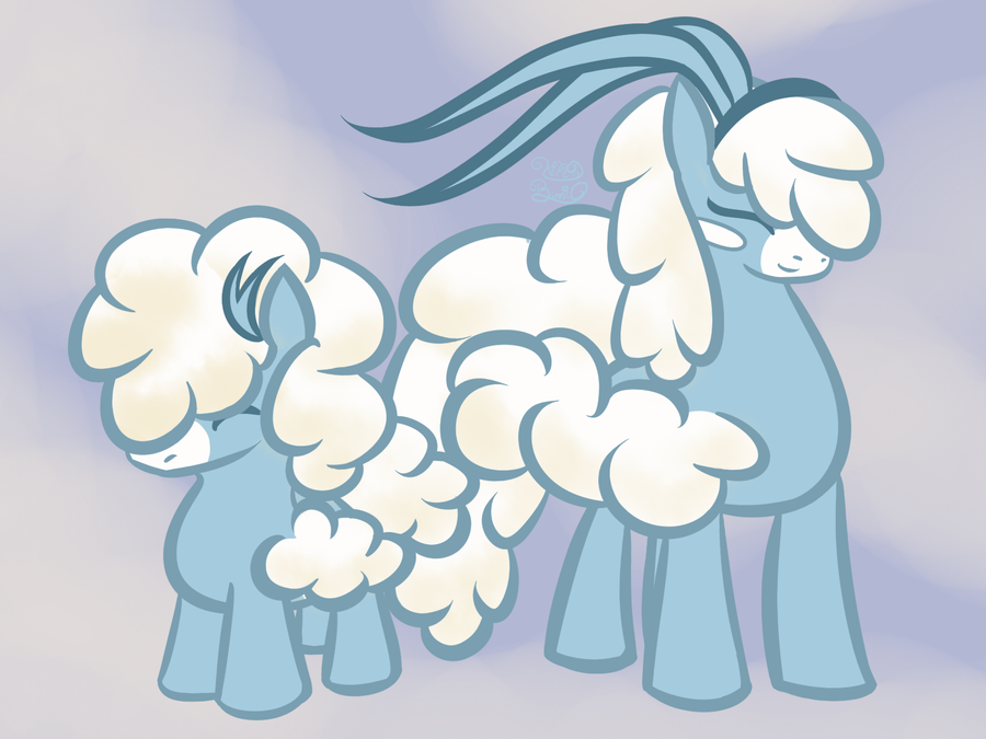 PonyMon Swablu and Altaria by Kiki-Bunni