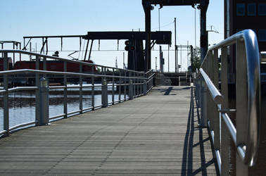 Bridge at Harbour by AlexbytheSea
