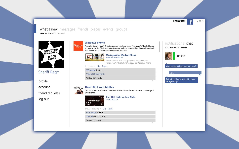 Facebook desktop client by SheriffRego