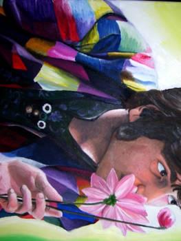 John Lennon Smelling Flowers