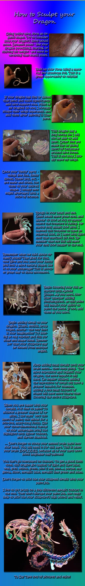Dragon Sculpture Tutorial by QuinapalusTheFool