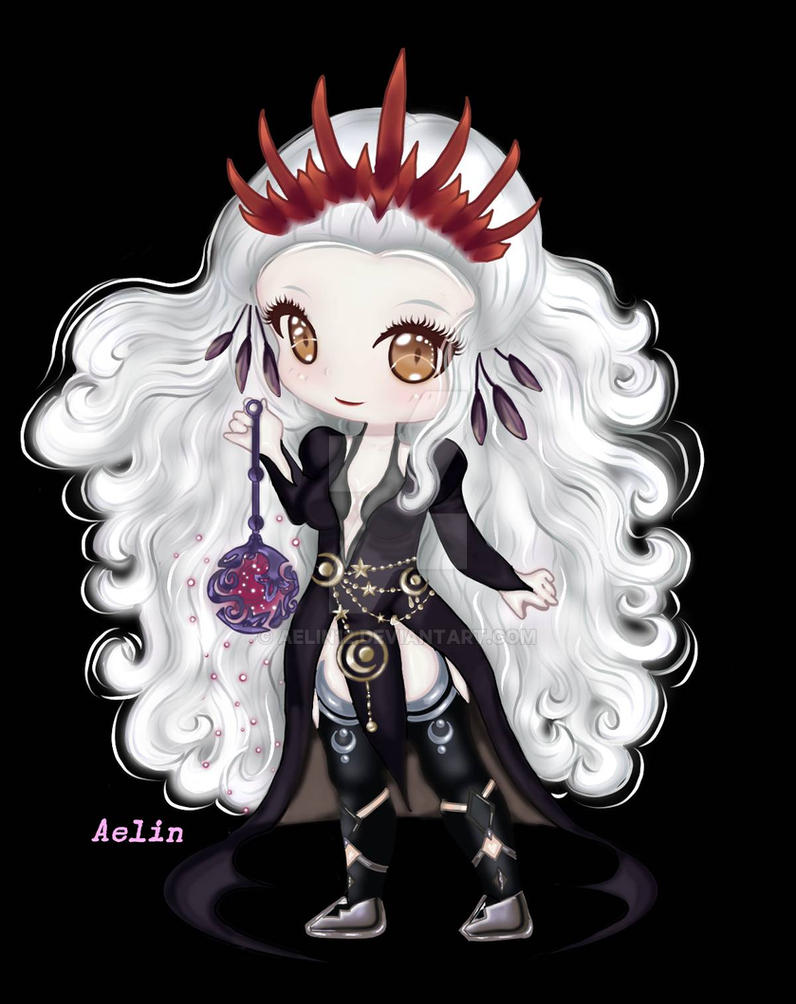 Comision Chibi Guardiana de Lily -Eldarya by Aelin12