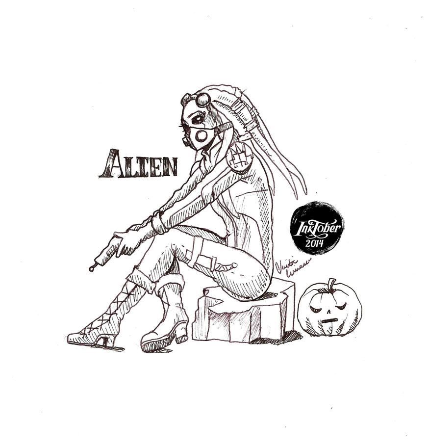 -Inktober 2014/Monster Girl Challenge-18.Alien by midnightc10
