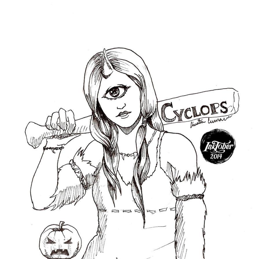 -Inktober 2014/Monster Girl Challenge-19.Cyclops by midnightc10