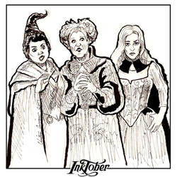 Inktober Day 26 - The Sanderson Sisters