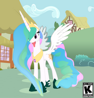 Princess Celestia in town by kuromeru-panthar