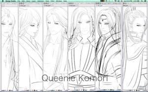 Illustration for Fiction Book _ Queenie Komori by QueenieKomori