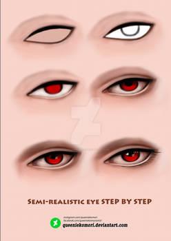 Semi-realistic eye STEP BY STEP