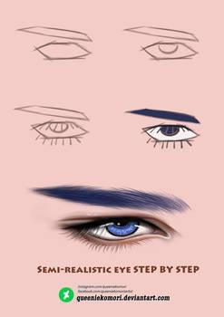 Semi-realistic eye STEP BY STEP 02