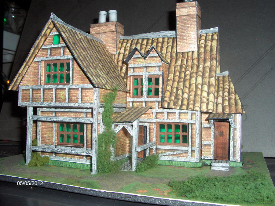 how to make building models with paper