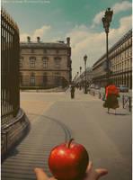 Vintage Red Apple