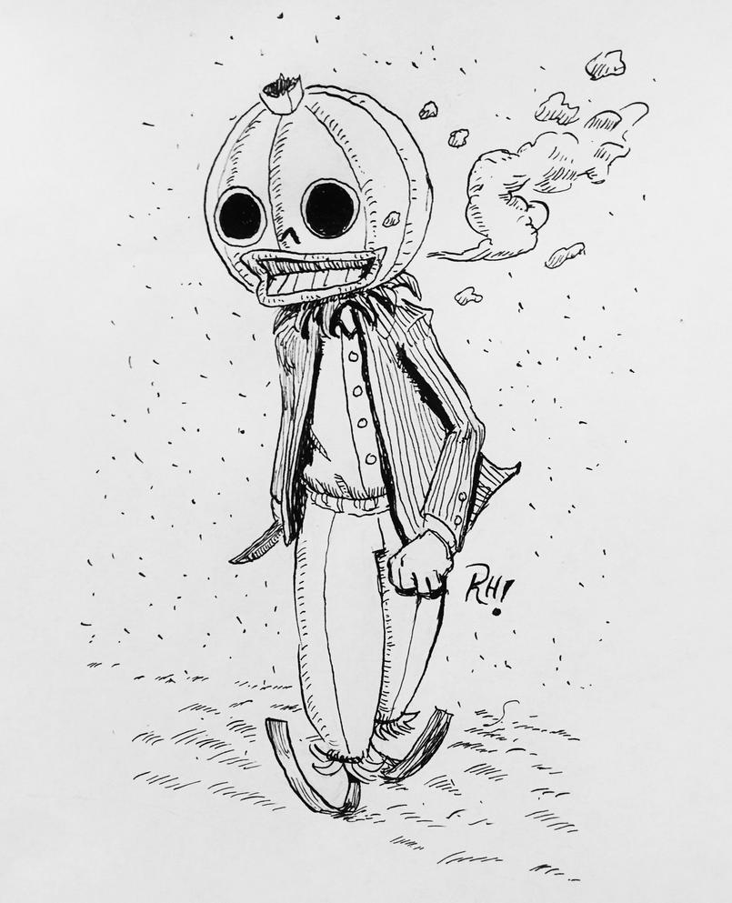 Pumpkin Head by RaulHernandezArt