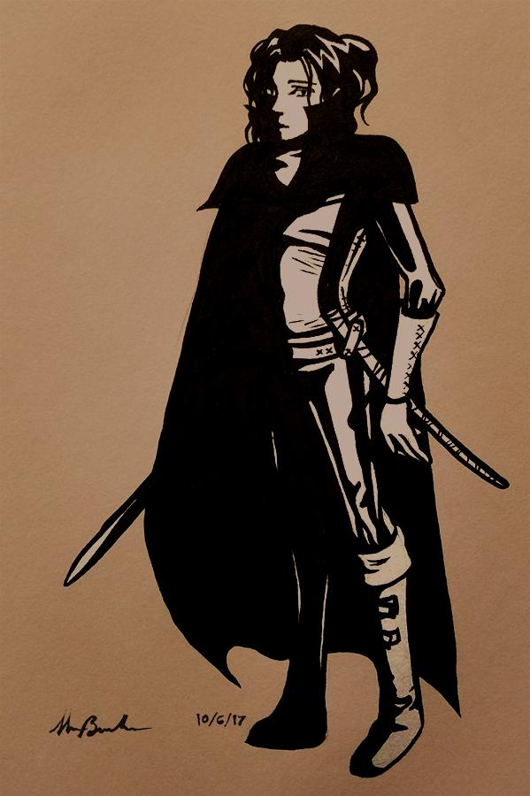 Inktober Day 6 - Sword (Digital Edit) by scazrelet
