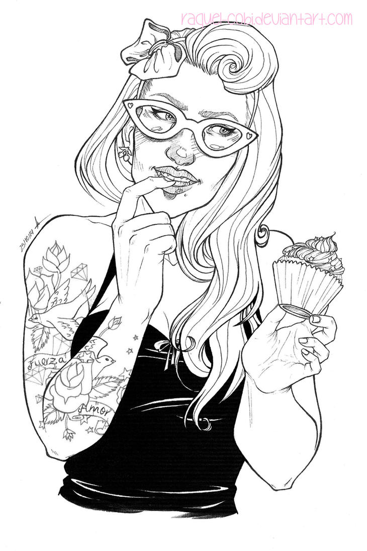 Yummy! -lineart- by raquel-cobi