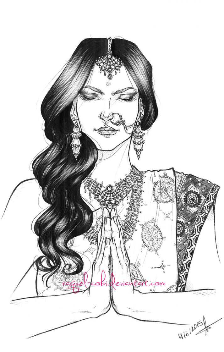 India -black and white version- by raquel-cobi