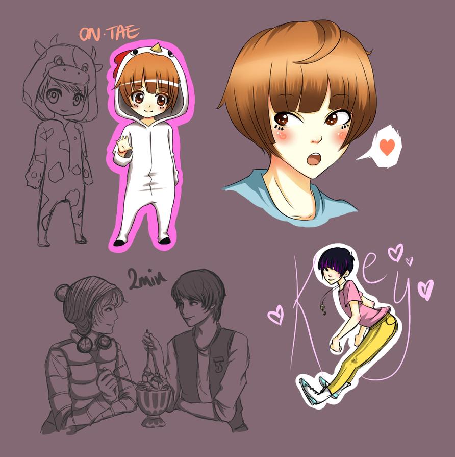 Shinee doodles by FAshi0nAblii-LAt3