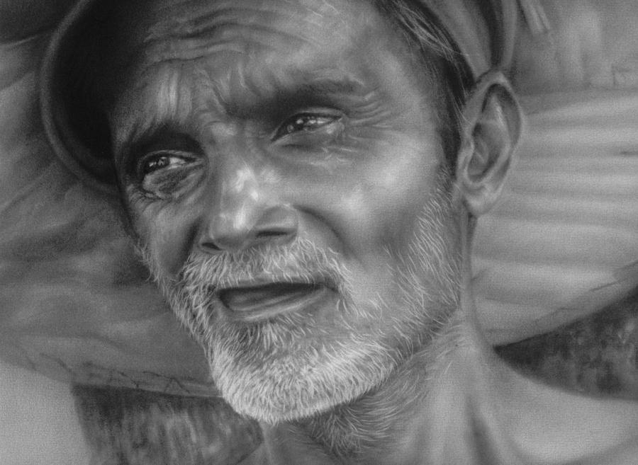 old mans face drawing - photo #11