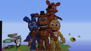 FNAF World Minecraft Pixel Art