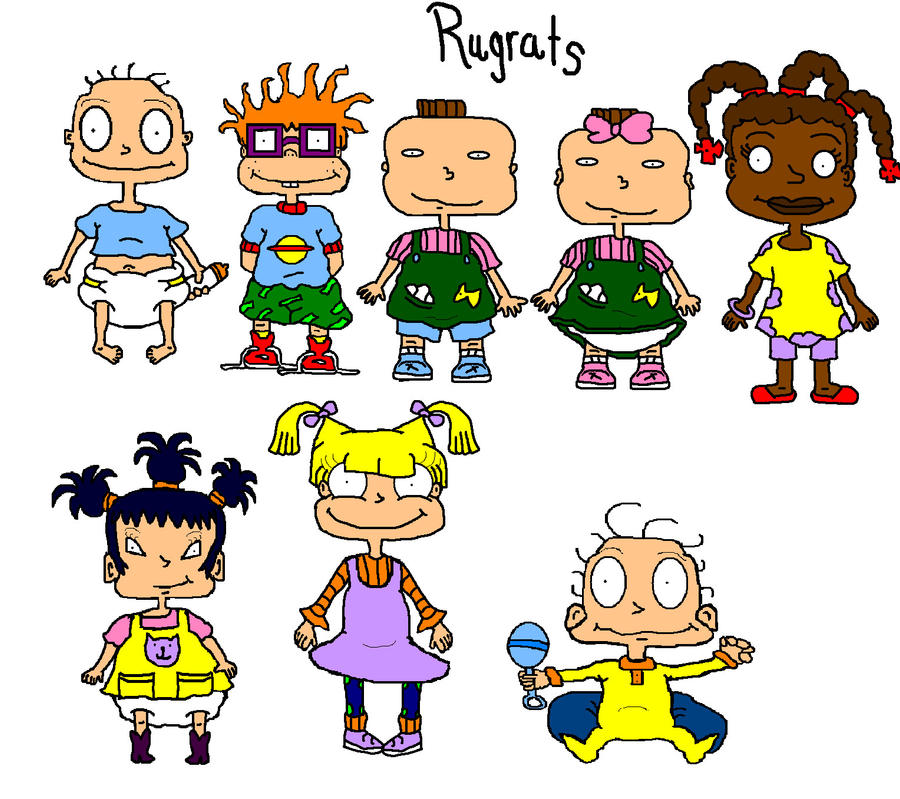 All The Characrers From Rugrats By Iliketrains21 On Deviantart