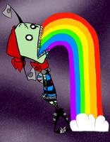 Rainbow Puke by Xeiv