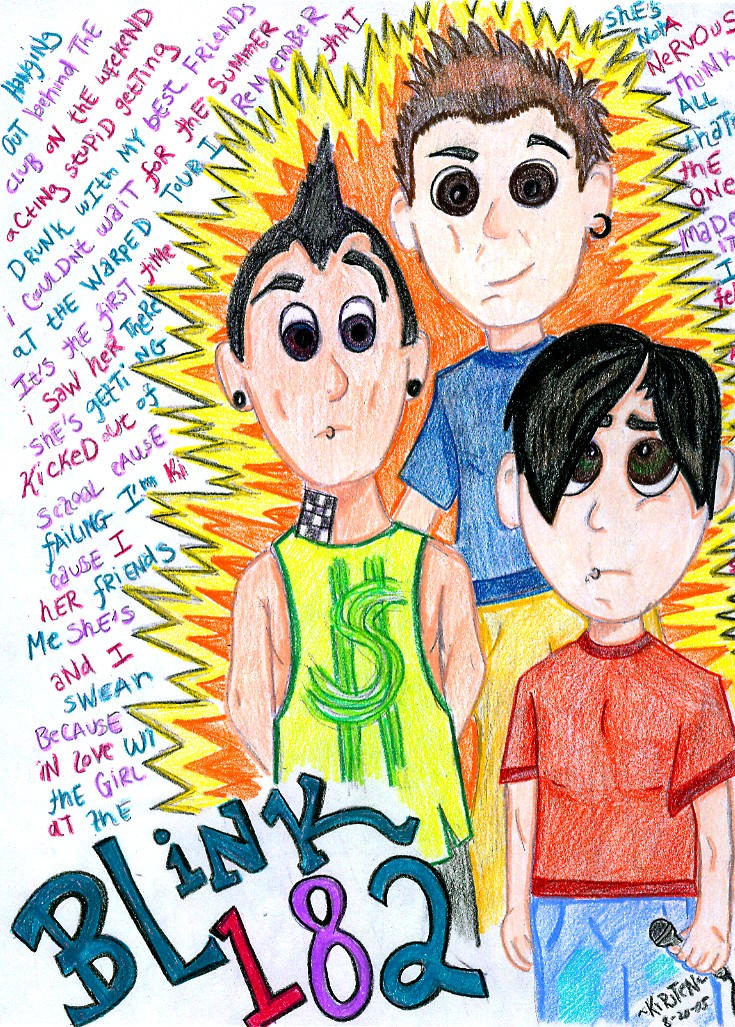 Blink 182 guys COLORED by Dogluvr
