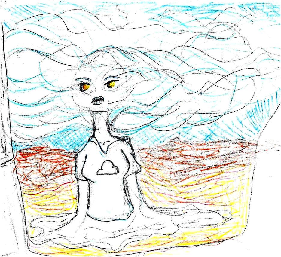 Cloud Woman Sketch 4 by pineapplepidecd92